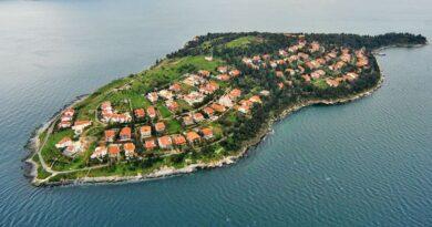 sedef adası manzarası ve yukarıdan görüntüsü