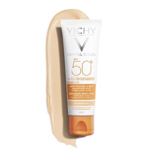 vichy ideal soleil spf 50 anti dark spots leke karsiti renkli gunes kremi